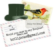 Care to say bonjour? Email me at brilljooks@gmail.com